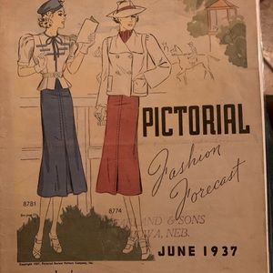 1937 Pictorial fashion forcast magazine